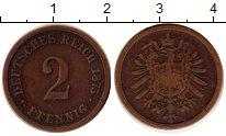 Изображение Монеты Германия 2 пфеннига 1875 Медь XF-