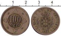Изображение Монеты Португалия 100 рейс 1900 Медно-никель XF-
