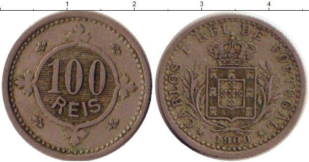 Картинка Монеты Португалия 100 рейс Медно-никель 1900