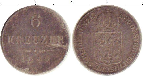 Картинка Монеты Австрия 6 крейцеров Серебро 1849