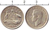 Изображение Монеты Австралия 6 пенсов 1943 Серебро XF Георг VI