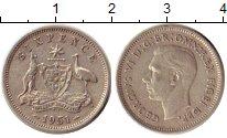 Изображение Монеты Австралия 6 пенсов 1951 Серебро XF