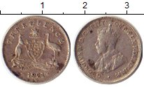 Изображение Монеты Австралия 3 пенса 1921 Серебро XF