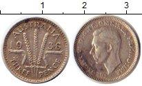 Изображение Монеты Австралия 3 пенса 1938 Серебро XF Георг VI