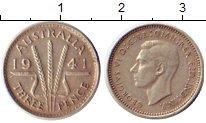 Изображение Монеты Австралия 3 пенса 1941 Серебро XF