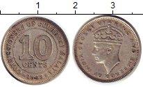 Изображение Монеты Малайя 10 центов 1948 Серебро XF Георг VI