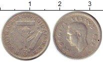 Изображение Монеты ЮАР 3 пенса 1949 Серебро VF