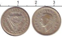 Изображение Монеты ЮАР 3 пенса 1952 Серебро XF