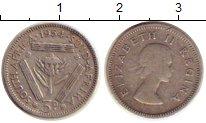 Изображение Монеты ЮАР 3 пенса 1954 Серебро XF