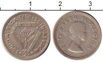Изображение Монеты ЮАР 3 пенса 1956 Серебро VF