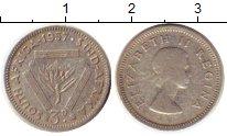 Изображение Монеты ЮАР 3 пенса 1957 Серебро VF