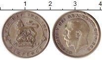 Изображение Монеты Великобритания 6 пенсов 1924 Серебро VF