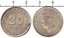Монета Стрейтс-Сеттльмент 20 центов Серебро 1943 XF+ фото