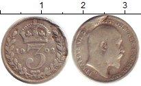 Изображение Монеты Великобритания 3 пенса 1902 Серебро VF