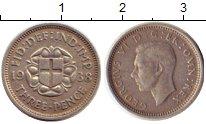 Изображение Монеты Великобритания 3 пенса 1938 Серебро XF Георг VI