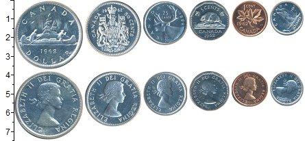 Изображение Наборы монет Канада Канада 1963 1962  UNC- В наборе 6 монет ном