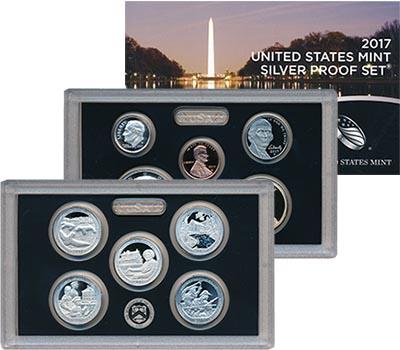 Изображение Подарочные наборы США Набор 2017 года 2017 Серебро Proof В набор входят десят
