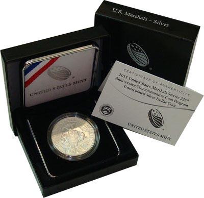 Изображение Подарочные монеты США 225-летие Службы Федеральных Маршалов 2015 Серебро Proof Представляем Вашему