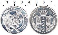 Изображение Монеты Ниуэ 50 долларов 1988 Серебро Proof Чемпионат  мира  по
