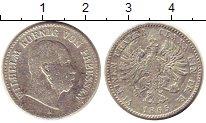 Изображение Монеты Пруссия 1/6 талера 1865 Серебро VF Вильгельм I