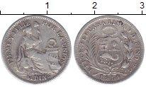 Изображение Монеты Перу 1/2 динеро 1914 Серебро XF