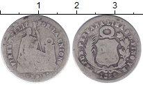 Изображение Монеты Перу 1 динер 1866 Серебро VF