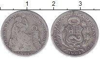 Изображение Монеты Перу 1 динер 1903 Серебро VF