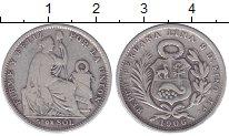 Изображение Монеты Перу 5 соль 1906 Серебро VF