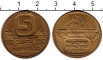 Изображение Монеты Финляндия 5 марок 1984 Латунь XF номинал - ледокол