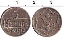 Изображение Монеты Данциг 5 пфеннигов 1923 Медно-никель XF