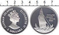 Изображение Монеты Каймановы острова 5 долларов 1988 Серебро Proof Елизавета II.  Олимп