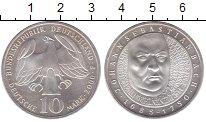 Изображение Монеты ФРГ 10 марок 2000 Серебро UNC Иоганн  Себастьян  Б