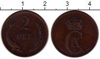 Изображение Монеты Дания 2 эре 1874 Бронза XF-