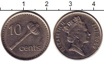 Изображение Монеты Фиджи 10 центов 2009 Медно-никель UNC-