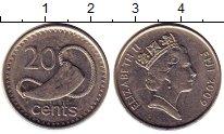 Изображение Монеты Фиджи 20 центов 2009 Медно-никель UNC-
