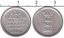 Изображение Монеты Датская Индия 10 скиллингов 1845 Серебро XF Фредерик VI