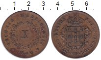 Изображение Монеты Азорские острова 10 рейс 1842 Медь XF Мария II