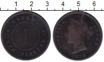 Изображение Монеты Кипр 1 пиастр 1879 Бронза VF