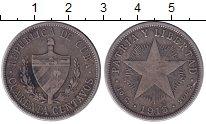 Изображение Монеты Куба 40 сентаво 1915 Серебро XF-