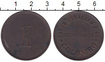 Изображение Монеты Цейлон 1 пенни 1873 Медь XF Токен.Коломбо.Кэри С