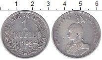 Изображение Монеты Немецкая Африка 1 рупия 1906 Серебро XF-