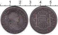 Изображение Монеты Перу 2 реала 1816 Серебро VF Испанская колония.Фе