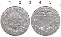 Изображение Монеты Боливия 50 сентаво 1906 Серебро XF-