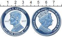 Изображение Мелочь Виргинские острова 1 доллар 2017 Серебро Proof Елизавета II.  100 -