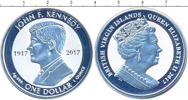Картинка Мелочь Виргинские острова 1 доллар Серебро 2017
