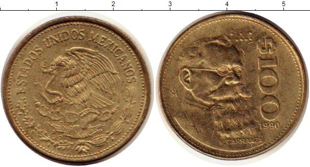 Картинка Монеты Мексика 100 песо Латунь 1990