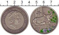 Изображение Монеты Ниуэ 1 доллар 2009 Серебро UNC Цветная  эмаль.  Ели