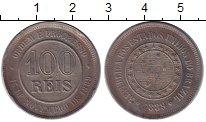 Изображение Монеты Бразилия 100 рейс 1889 Медно-никель XF
