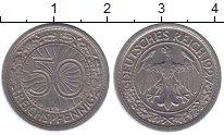 Изображение Монеты Веймарская республика 50 пфеннигов 1927 Медно-никель XF А