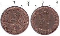 Изображение Монеты Кипр 3 милса 1955 Бронза UNC- Елизавета II
